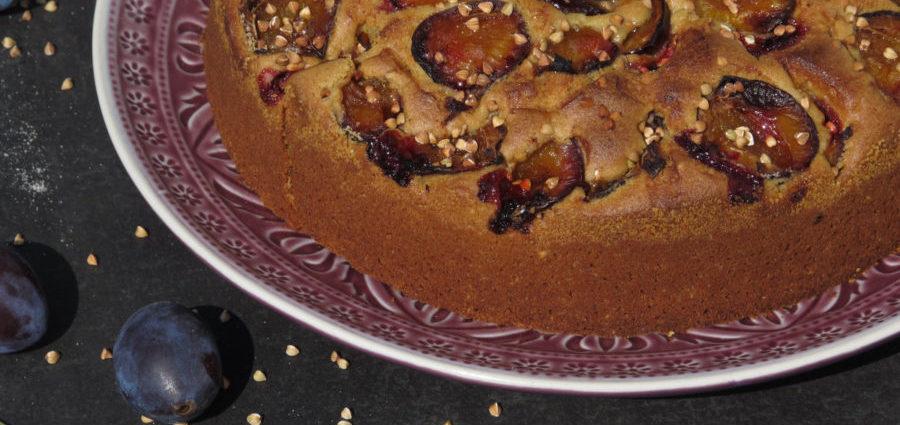 Buchweizen-Zwetschkenkuchen